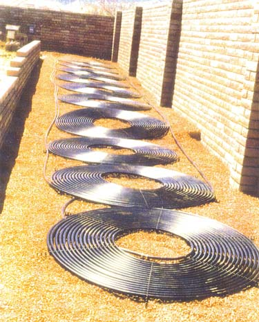 Ground Mount Solar Pool Heating Installation