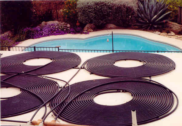 SolarTech Flat Roof Pool Heating Installation