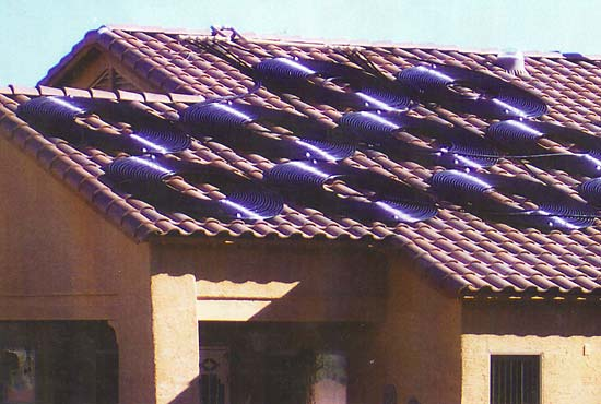Tile Roof Solar Pool Heating Installation