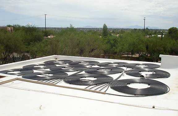 Flat Roof Solar Pool Heating Installation